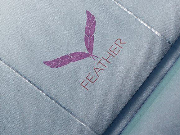 Feather Logo by eSSeGraphic on @creativemarket