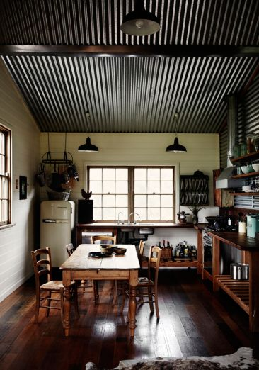 Open country, corrugated iron ceiling. so simple to maintain. colourbond. great country feel.