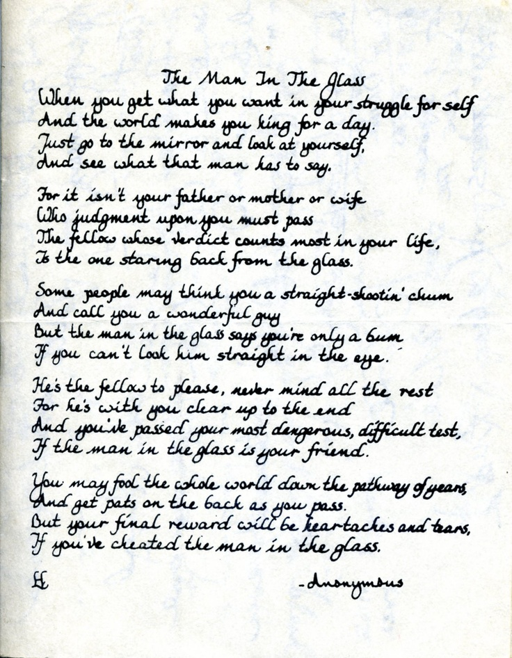 Man In The Mirror Poem 37