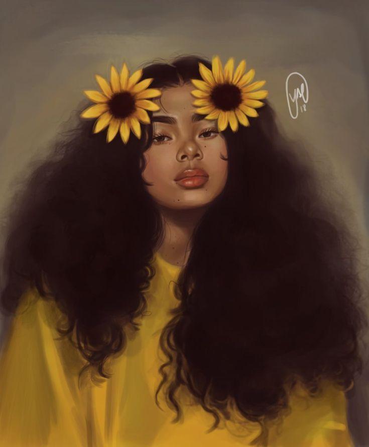 sunflower girl adayse pix