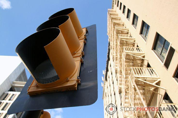Stockphotosbank: Traffic lights in Dallas, TX