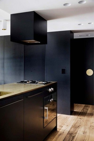 Architect_Prineas Brass, Charcoal and Navy Kitchen LOVE!