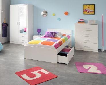 Fabulous Jugendzimmer Linus VII tlg Wei M bel wei Schlafzimmer Kommode
