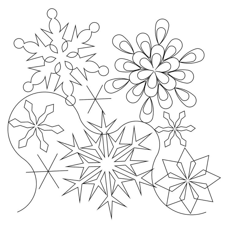 27 best Over the river quilt images on Pinterest | Embroidery ... : snowflake quilting stencil - Adamdwight.com