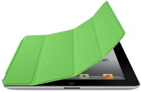 Apple iPad Smart Cover Polyurethane Green   Protect the iPad screen without covering up the durable back. Magnetic aluminium hinge aligns the cover for perfect fit.