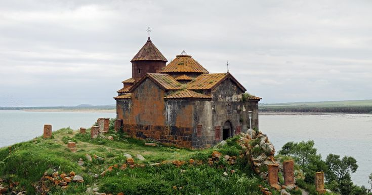 Sevan church of Ayravanq. Lake Sevan, Armenia.