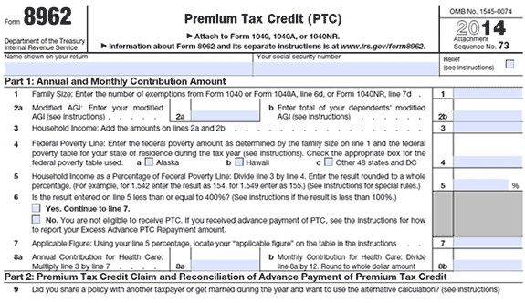 Irs Form 8962 Obamacare Tax Forms What You Need To Know Irs Forms Obamacare Facts Tax Forms