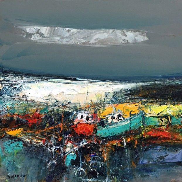 Nael Hanna, East Neuk Boats, Mixed Media | Scottish Contemporary Art
