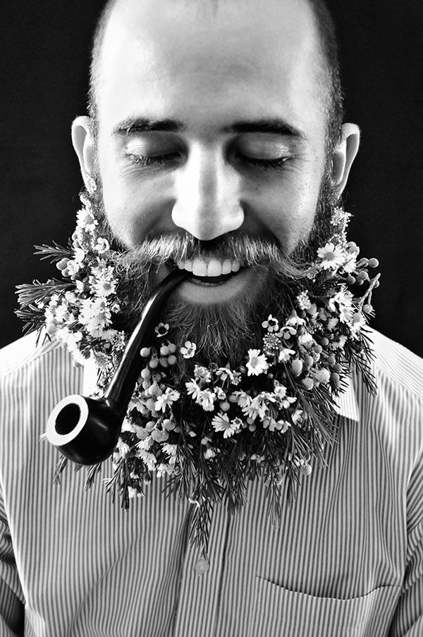 Flower Beard | Cyanotype Photography on Behance