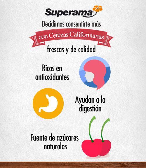 ¿Ya conocías estos beneficios de la cereza? En Superama tenemos deliciosas cerezas traídas desde California…¡te encantarán!