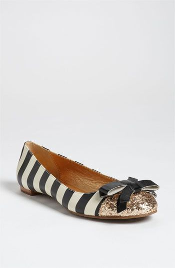 Has a cuter shoe ever existed? Stripes, sequins, and a bow! Kate Spade Trixie flat