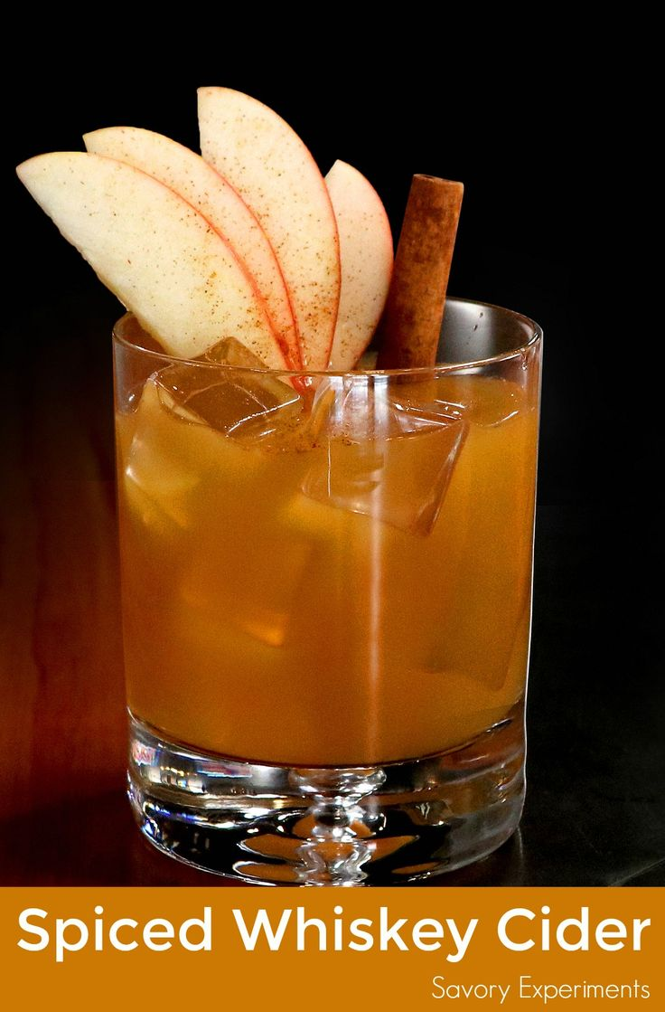 Spiced Whiskey Cider is the perfect fall cocktail using Sagamore Spirit rye whiskey, apple cider, lime juice and simple syrup.