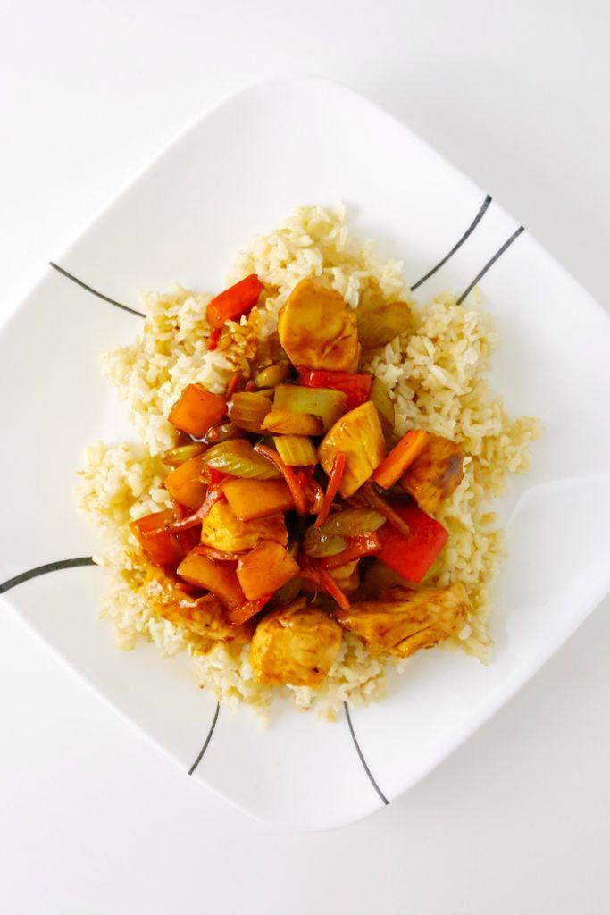 Tangerine Chicken Stir-Fry ( it uses @NotKetchup Tangerine Hatch Chili Sauce)