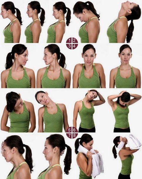 Картинки по запросу шейный остеохондроз упражнения