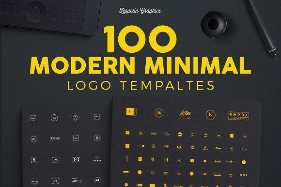 100 Modern Minimal Logo Templates by Zeppelin Graphics on @creativemarket