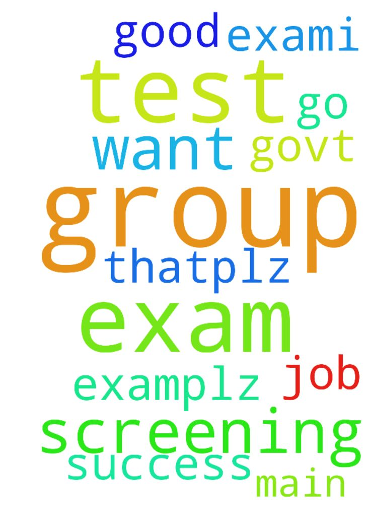 Please pray for group 2 screening test exam.I want - Please pray for group 2 screening test exam.I want to success in this exam and I will go to main exam.plz pray for that.plz pray for good govt job in Group 2. Posted at: https://prayerrequest.com/t/ygD #pray #prayer #request #prayerrequest
