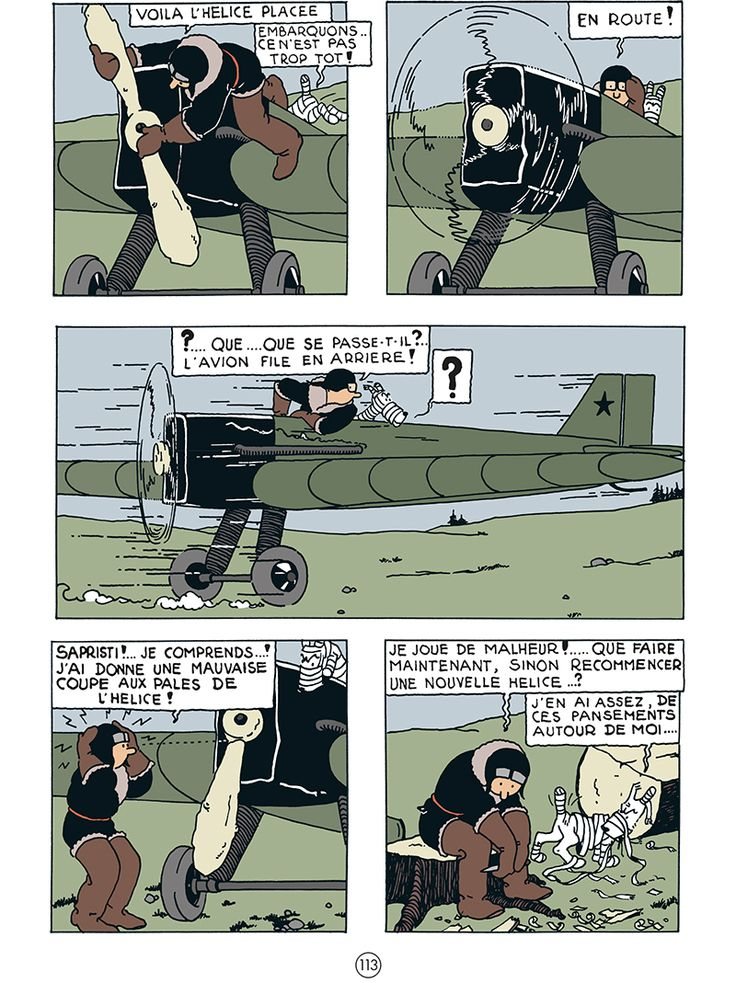 <center>  <b>GIVE AWAY (Extrait gratuit)</b>  <b>Tintin au pays des Soviets</b>, pages 113 et 114 colorisées  Nous retrouvons sur cette double planche notre héros et son fidèle ...