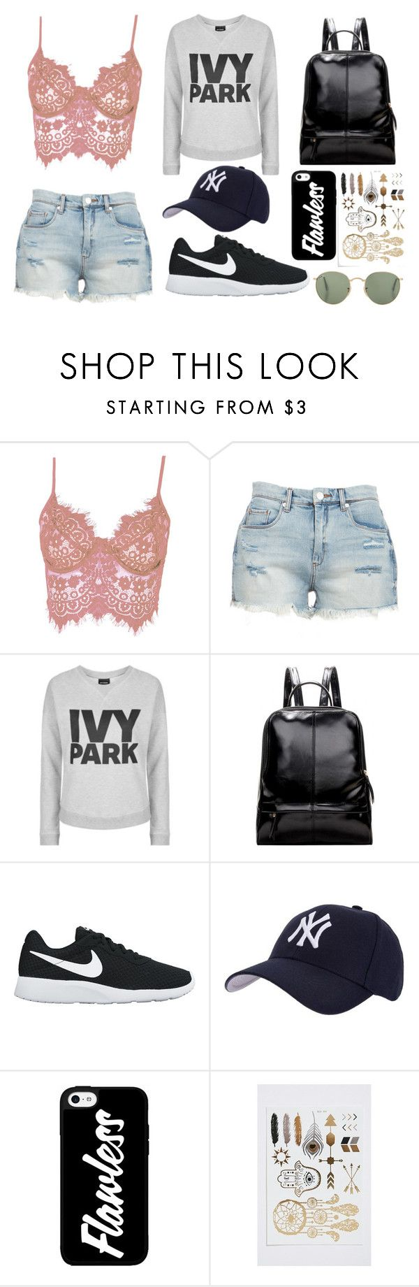 Outfit 15 by sarahcb2002 on Polyvore featuring Topshop, WithChic, BLANKNYC, NIKE and Hartford