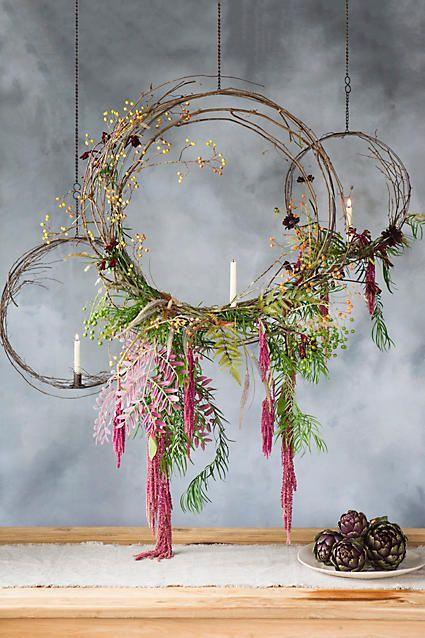 Anthropologie Hanging Circle Taper Holder | Scandinavian Design Interior Living | #scandinavian #interior