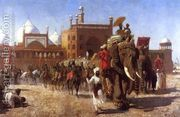 The Return Of The Imperial Court From The Great Nosque At De...  by Edwin Lord Weeks