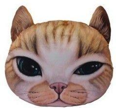 Putetrekk med motiv av kattehodet. Størrelsen på trekket er 40 x 31 cm og er ovalt. Matriale: Bomull og Polyester Like mykt matriale som en katt :-) GRATIS FRAKT Forskuddsbetaling eller finn's betalingsgaranti