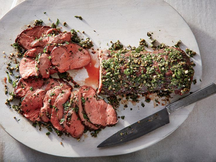 Cooking Light / Perfect Beef Tenderloin.  Serve with Board Dressing (on my Soups, Salads, Sauces etc. Board)