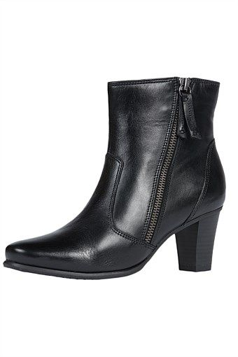 Sandler Ankle Boot with Outside Zip Detail