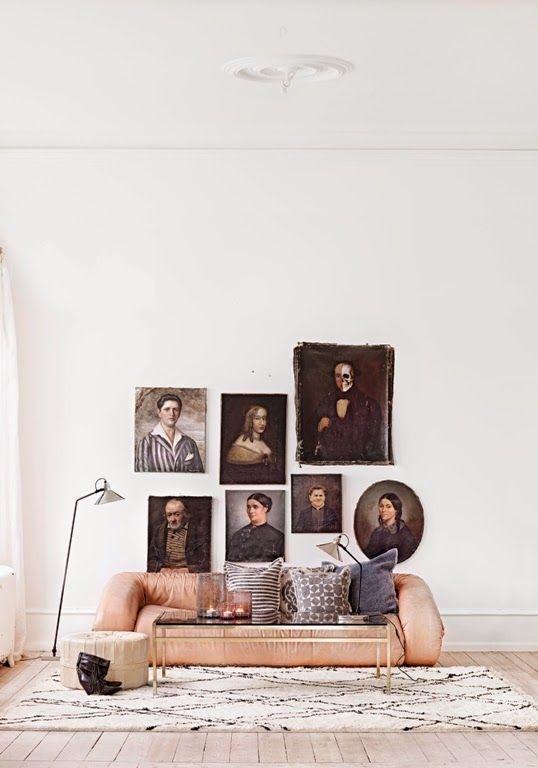 Portretten + woonkamer + ruimte