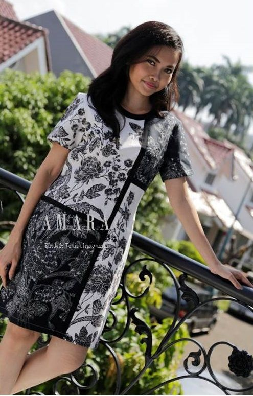 #Black&White Batik Pekalongan Dress www.amarabatik.com