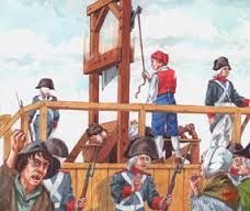 Lodewijk XVI werd in 1793 onthoofd. Hij en zijn vrouw Marie-Antoinette gaven te veel geld uit en Frankrijk bouwde hierdoor een schuld op. Om de schuld te betalen werd de belasting verhoogd. Van de standensamenleving moesten de burgers dit betalen. De burgers zijn het zat en komen in opstand > De Franse Revolutie. Lodewijk wilde samen met zijn vrouw en kinderen vluchtten naar Oostenrijk, maar ze werden ontdekt. Lodewijk werd veroordeeld en kreeg net als zijn vrouw de doodstraf.