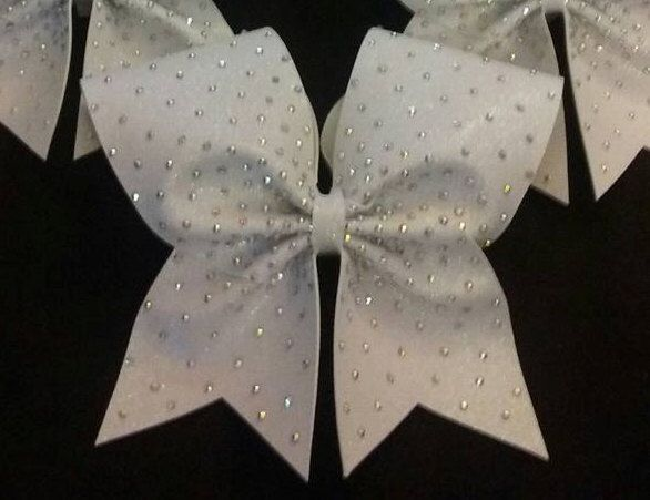 Light Scatter 3-Inch Cheer Bow w/hand-placed resin or rhinestone details by FullOutBowtique on Etsy https://www.etsy.com/listing/243418685/light-scatter-3-inch-cheer-bow-whand