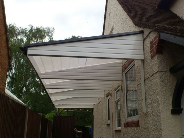 Cantilever Carport White Installed By A2zcanopies