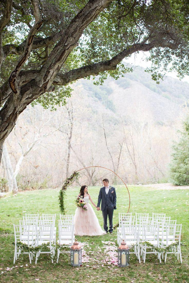 small beach wedding ceremony ideas%0A Modern Vintage Wedding Inspiration at Gardener Ranch