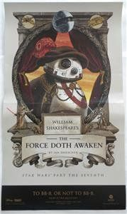 BB-8 STAR WARS William Shakespeare's THE FORCE DOTH AWAKEN Promo POSTER //Price: $16.69 & FREE Shipping //     #starwarsfan