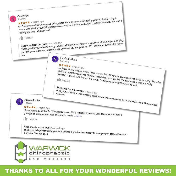 Reviews help us but they are vital for new patients too. Thank you to all who take the time to review. #warwichchiropractic #warwickchiropractic&massage #laceychiropractor #laceychiropractor #backpaindoctor #backpain #neckpain #neckpain #sciatica #sciatic