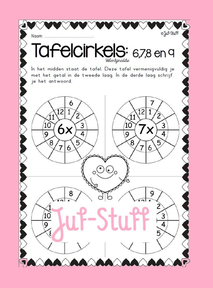 Juf-Stuff: Tafelcirkels: valentijnseditie
