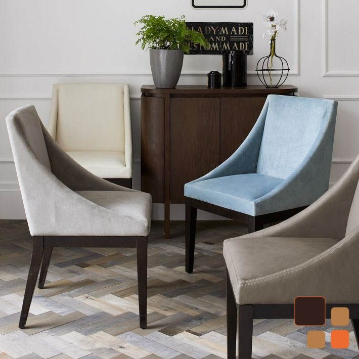 curved upholstered dining chair from west elm