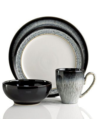 Denby Dinnerware, Halo 4 Piece Place Setting - Casual Dinnerware - Dining & Entertaining - Macy's Bridal and Wedding Registry
