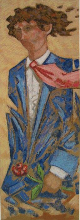L'uomo con la rosa, Giampaolo Talani, http://www.galleria-galp.it/shop/index.php/artisti/giampaolo-talani/l-uomo-con-la-rosa.html