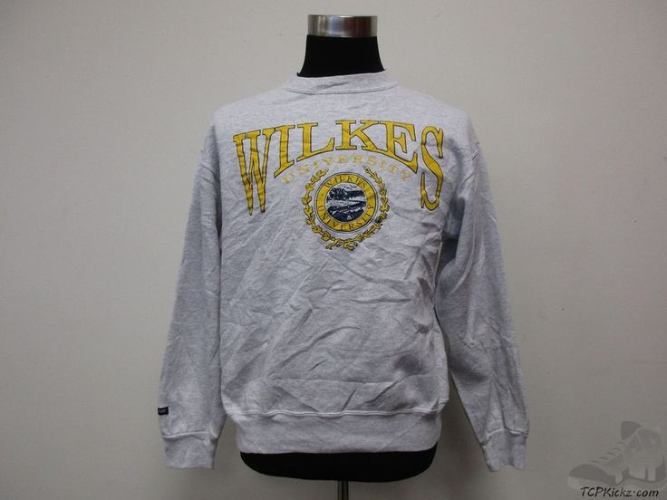 Vtg 90s Jansport Wilkes University Colonels Crewneck Sweatshirt sz L Large #RussellAthletic #WilkesColonels #tcpkickz