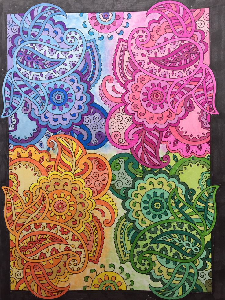 Mehndi Designs Creative Haven Book Dover Publishing Prismacolor Markers And NuPastels Colored By Jan ColouringColoring BooksAdult