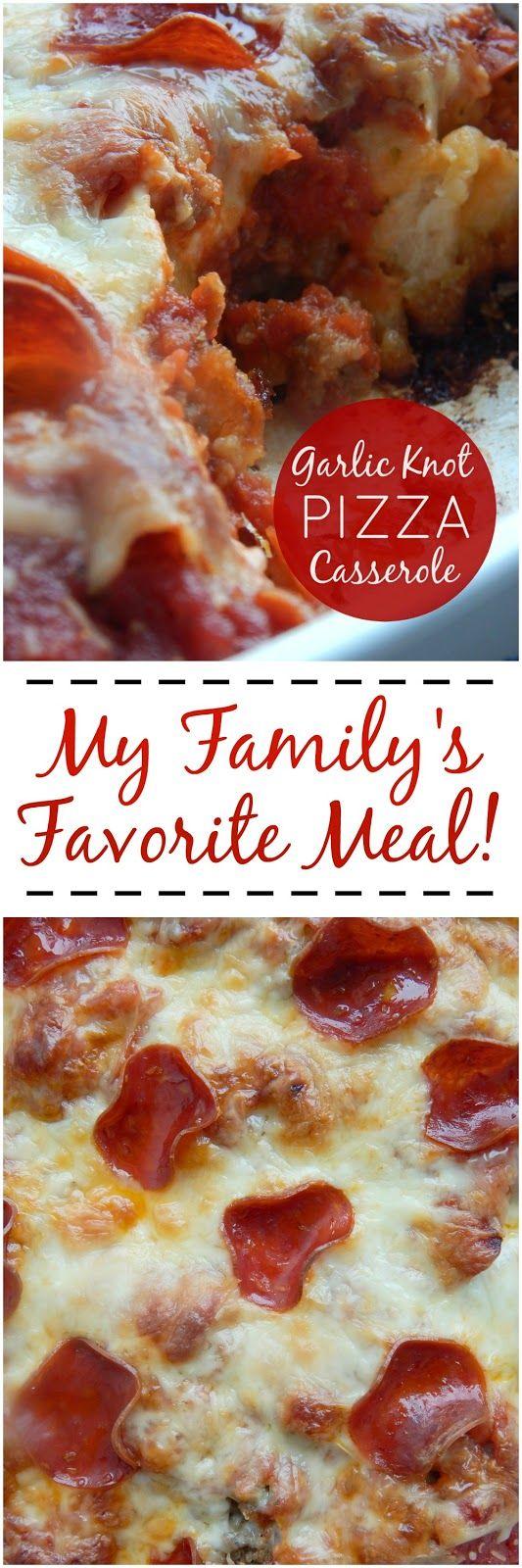 garlic knot pizza casserole (sweetandsavoryfood.com)