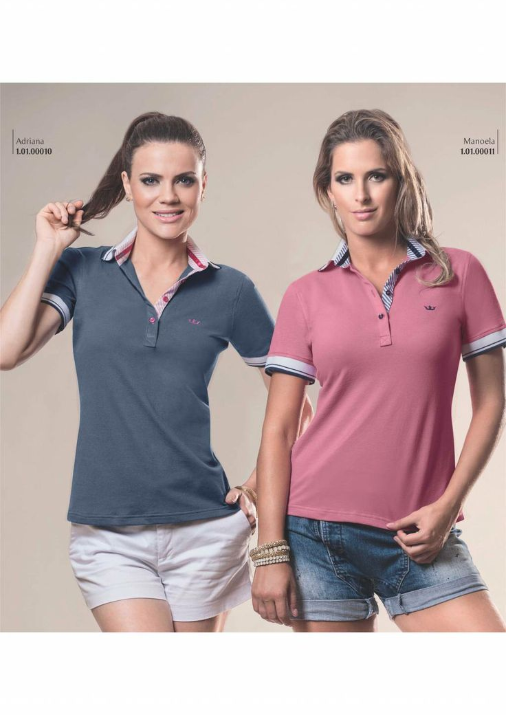 Camisa Polo Feminina Principessa Adriana e Manoela