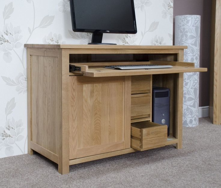 Elegant Hideaway Computer Desk Cabinet