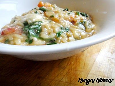 Hungry Kittens: Sweet Potato and Spinach Risotto