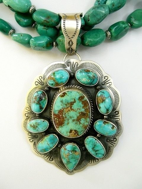 This is definitely a piece I would like to own. The turquoise is gorgeous.