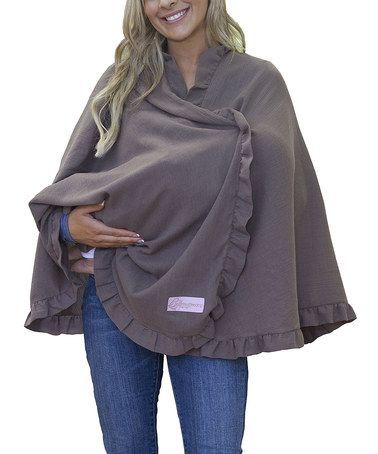 Loving this Latte Nursing Cover on #zulily! #zulilyfinds Maybe he won't be able to throw this one off.