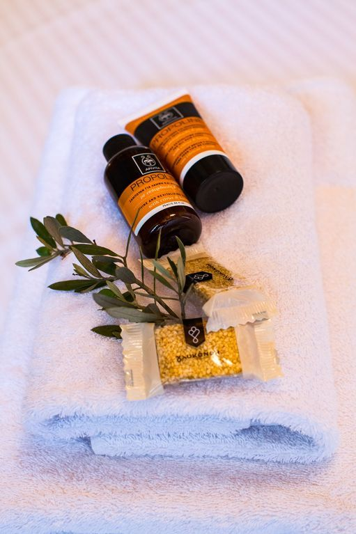 Foinikas villa rental - Toiletries are provided as well as towels and linen!