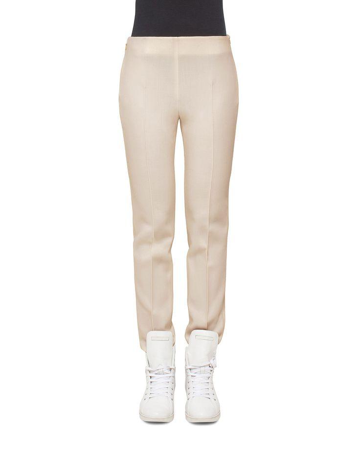 Melissa Mid-Rise Slim Pants, Steppe - Akris