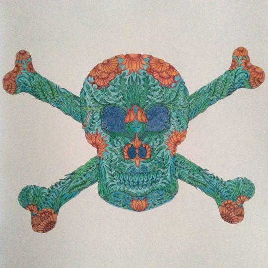 Johanna Basford Colouring Coloring Books Skull Vintage Pages Sugar